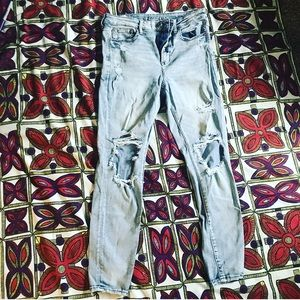 American Eagle distressed high rise jegging
